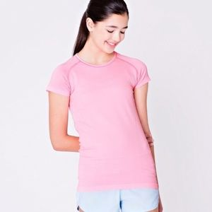• ivivva Rise Shine Repeat SS Pink tee •